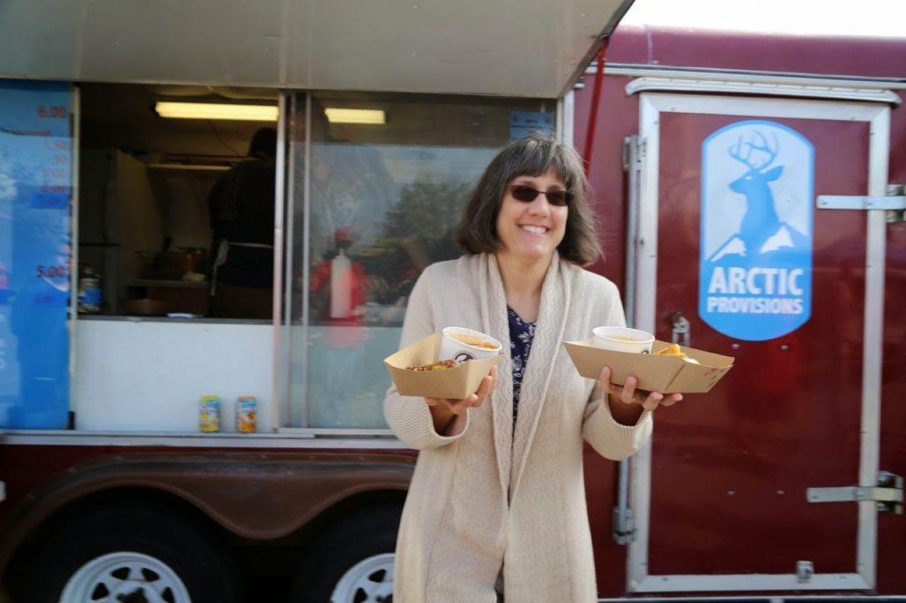 Food truck carnival, in Anchorage, Alaska