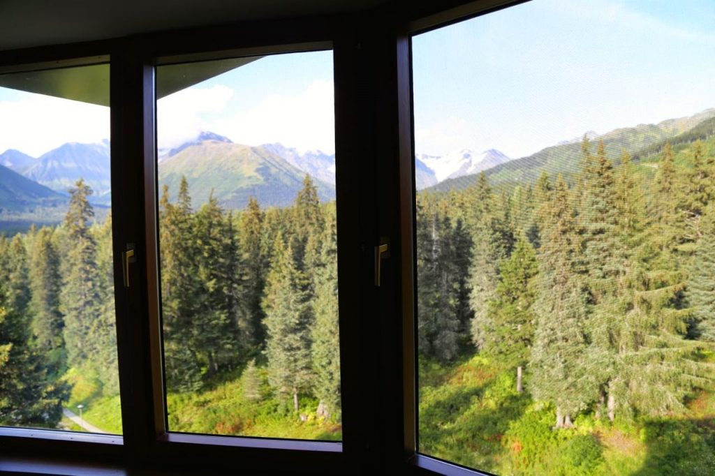 View from my window, Alyeska Resort hotel, Alaska
