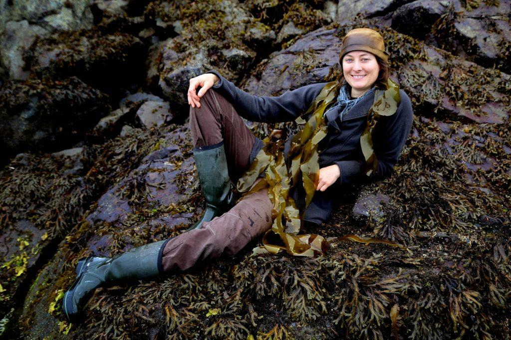 Hope Merritt, seaweed gatherer, Sitka, Alaska,  pic: Kerstin Rodgers/msmarmitelover.com