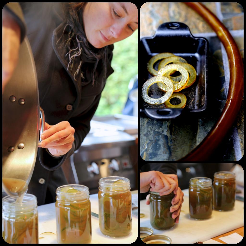 Canning pickled bull kelp, Hope Merritt, Sitka, Alaska. Hope Merritt seaweed forager, , Alaska pic: Kerstin Rodgers/msmarmitelover.com
