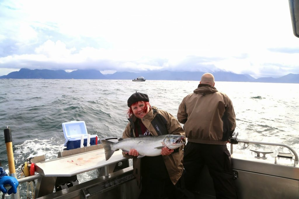 salmon fishing in sitka, alaska. Pic;Kerstin Rodgers/msmarmitelover.com