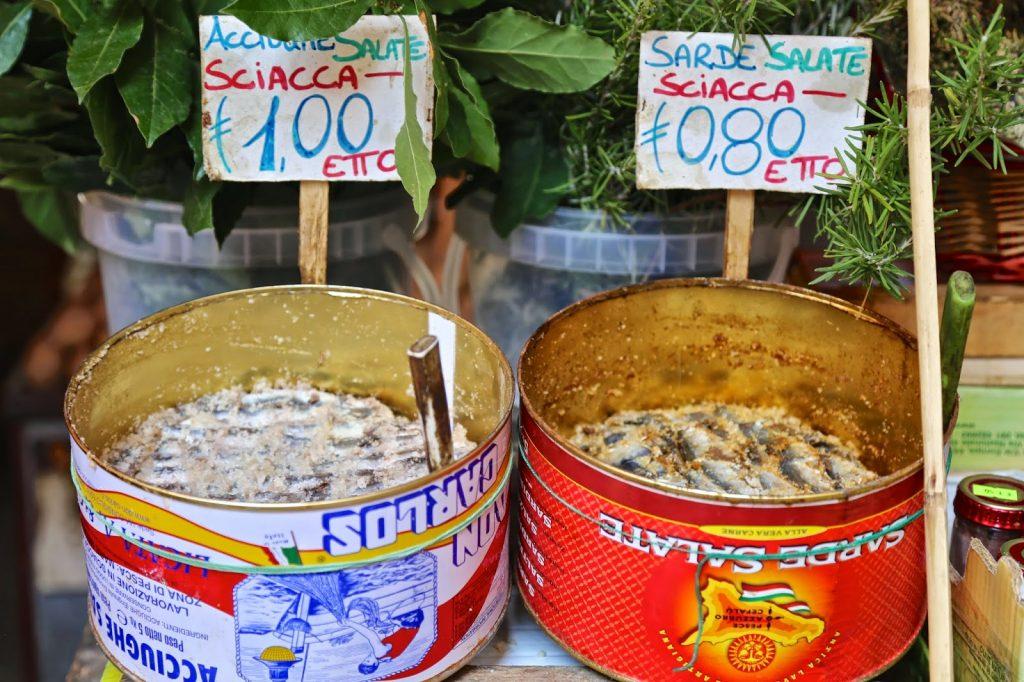 tins of sardines, Palermo, Sicily