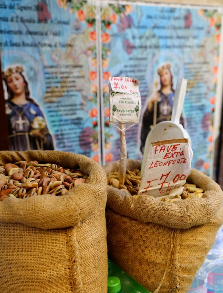 dried beans, Palermo, Sicily
