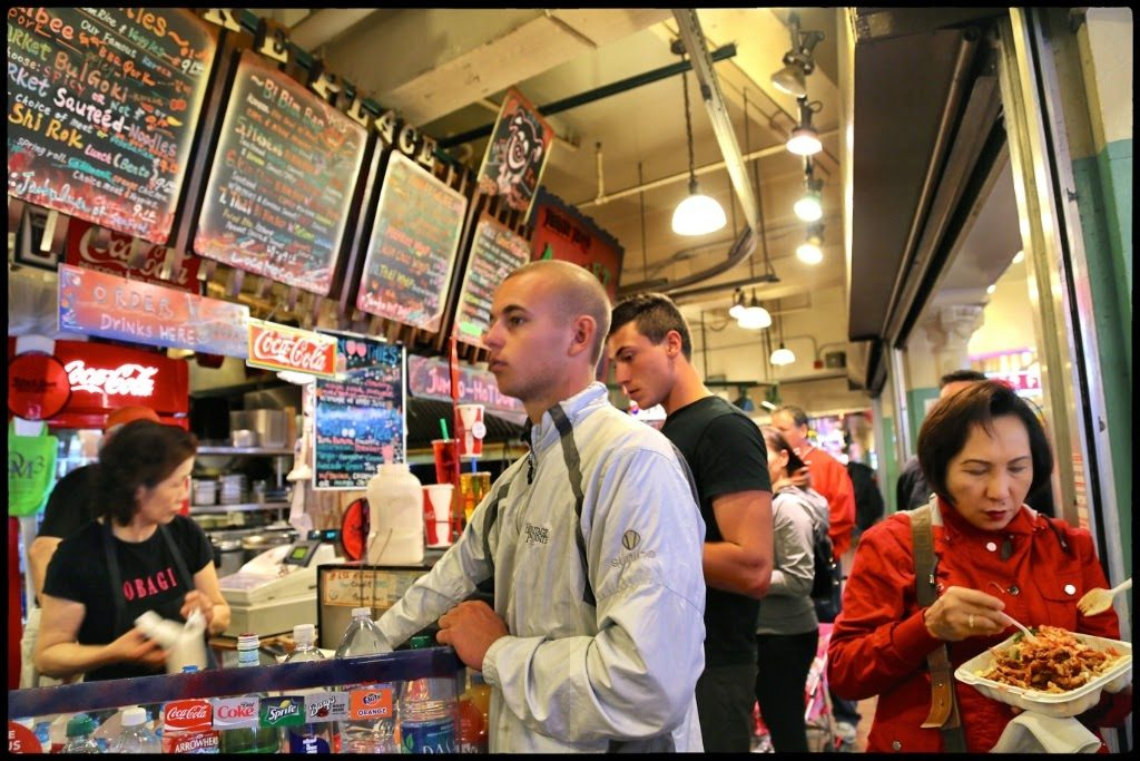 Chinese food stall, pike place market,seattle
