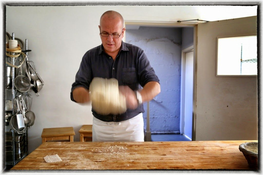 Richard Bertinet working with dough, Bath