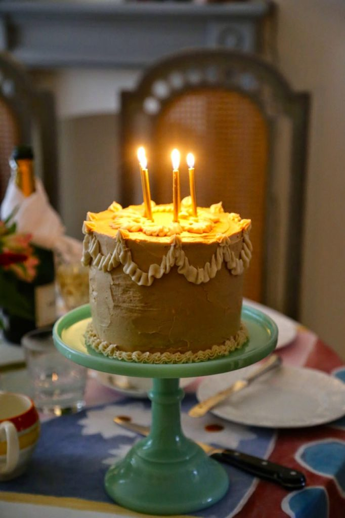 Edwardian decorated cake,  David Herbert's secret tea party
