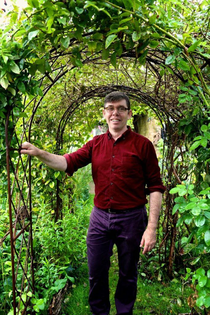 David Herbert in his garden