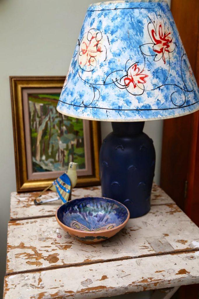 Hand painted lampshades, bloomsbury era,David Herberts secret tea
