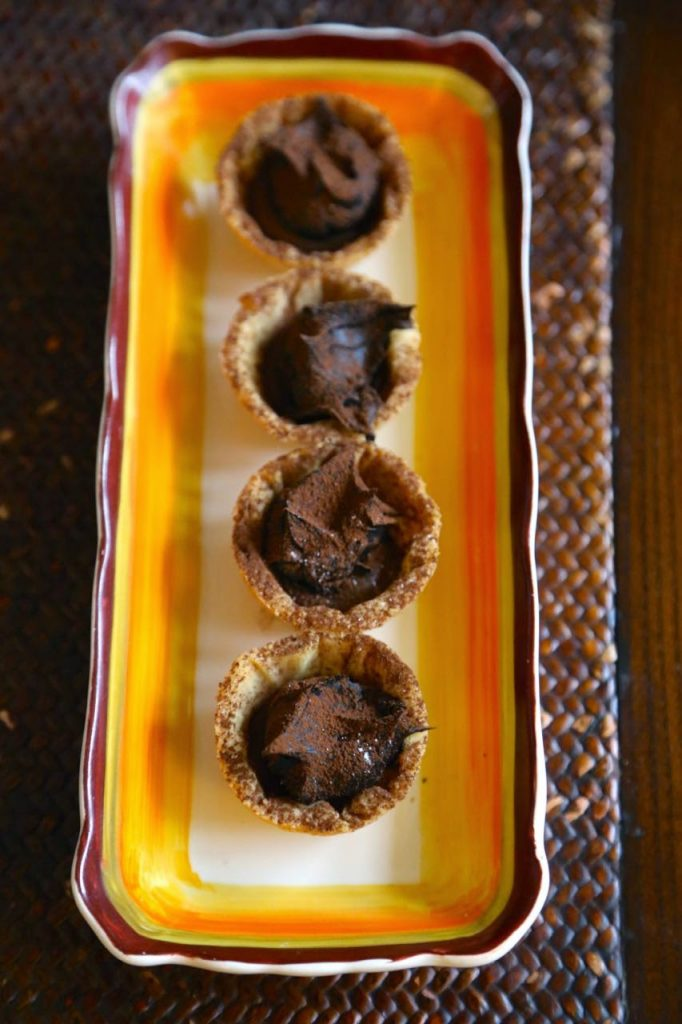 tiny chocolate croustades, David Herbert's secret tea party