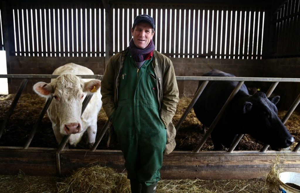 Farmer Andrew Dunlop,  Feather Down farms,  pic: Kerstin Rodgers/msmarmitelover