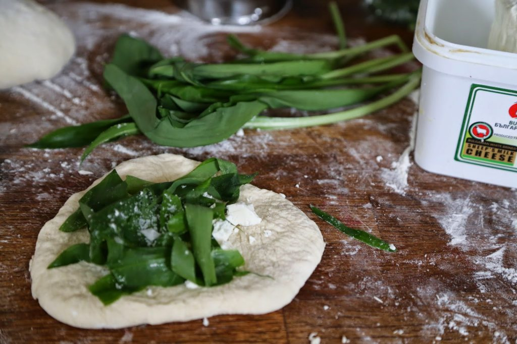 mini calzone with wild garlic and sheeps cheese recipe