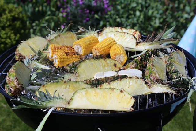 Grilled pineapple spears with lime and palm sugar recipe