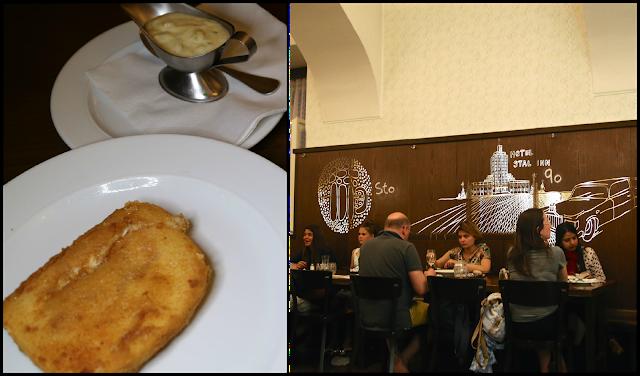Lokal restaurant Prague, Fried cheese schnitzel
