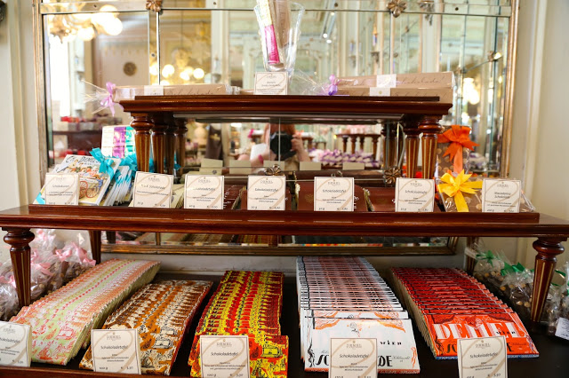 chocolate bars, cafe demel, Vienna