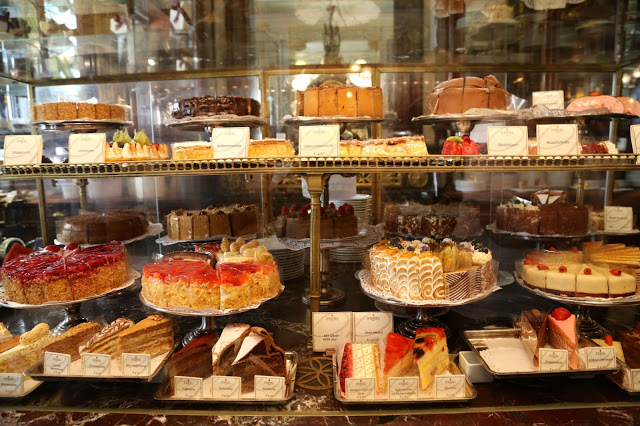 cake counter, cafe demel, Vienna
