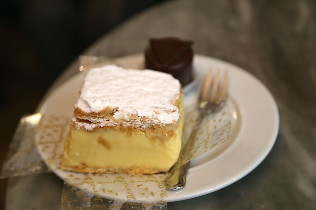 Custard slice, cafe demel, Vienna