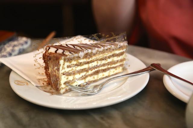 Millefeuille cake, cafe demel, Vienna