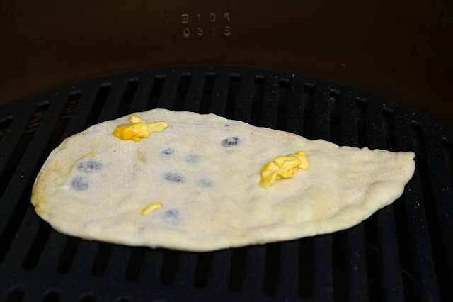 Home made peshwari naan on the big green egg