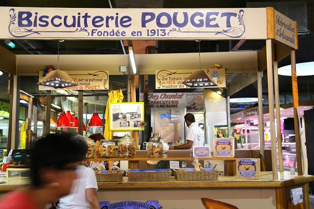 Biscuit seller, Sète market, languedoc, france