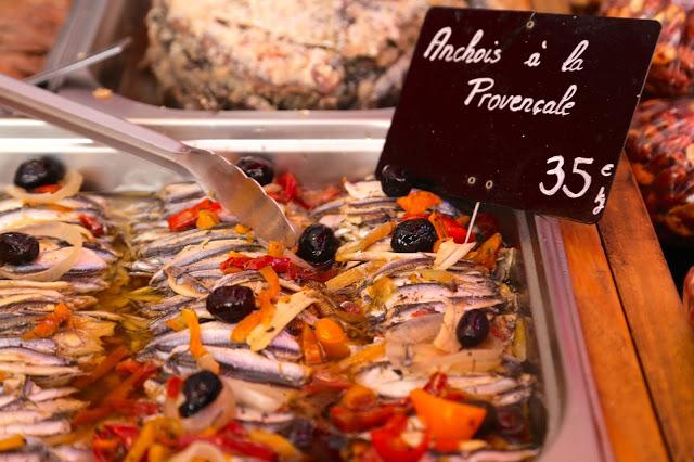 anchois a la provencale, Sète market, languedoc, france