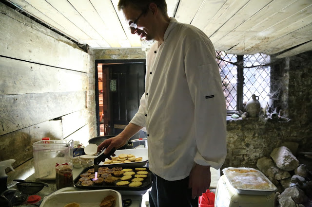 James Benson, chef, at MsMarmitelover's 18th century tea party at Dennis Severs house, 18 Folgate St, Spitalfields, london,