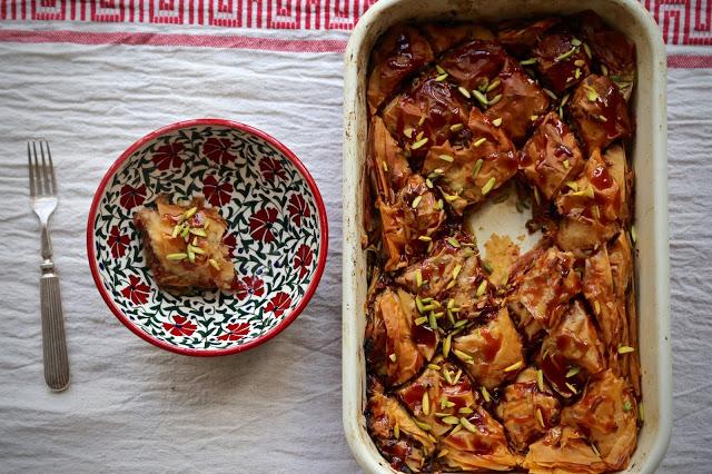 Pistachio and quince baklava recipe