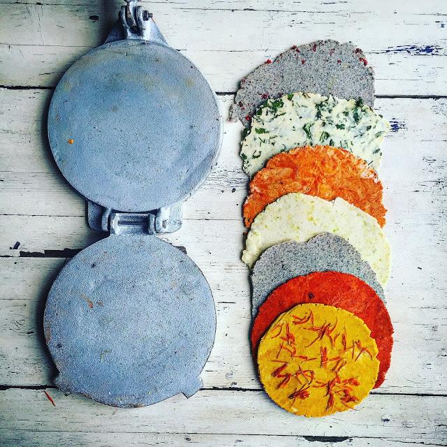 multicoloured tacos