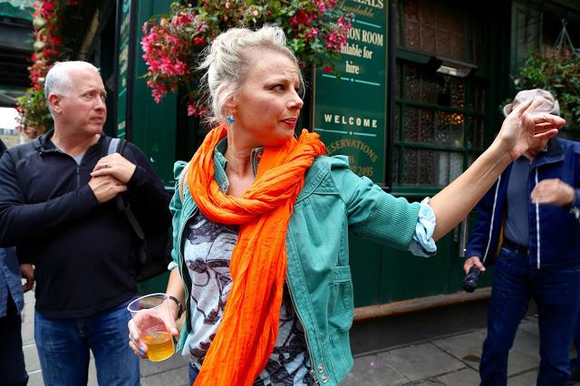 Celia Brooks doing the Borough Market food tour