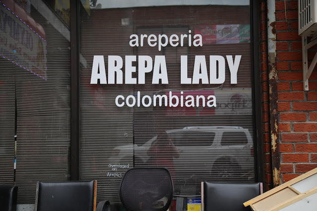 arepa lady, Queens, New York