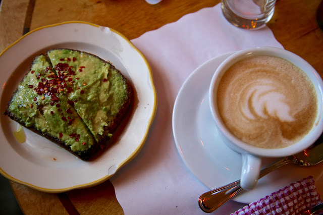 Avocado on toast, Gitane Cafe, The Jane, New York