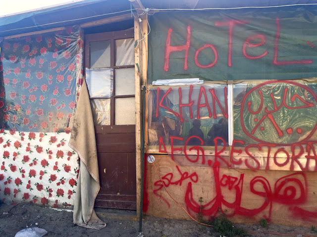 refugee camp The Jungle at Calais
