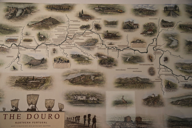 douro portugal map