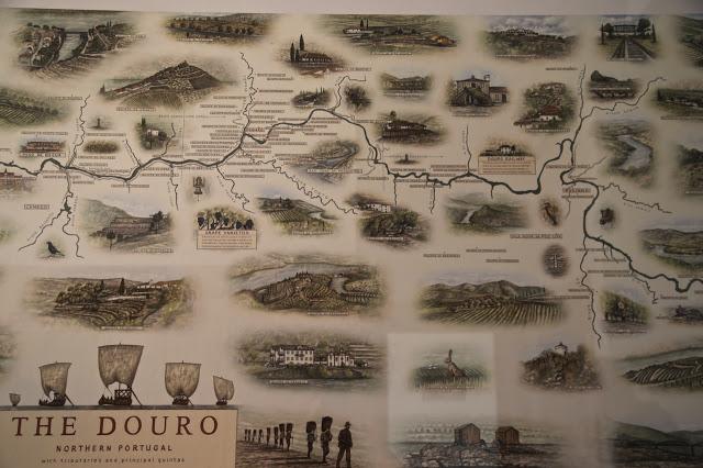 douro portugal map