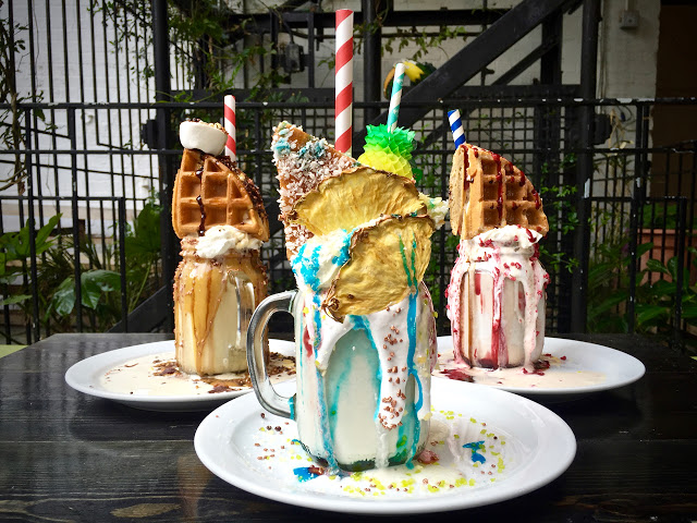 Freak shakes at Pond, Dalston
