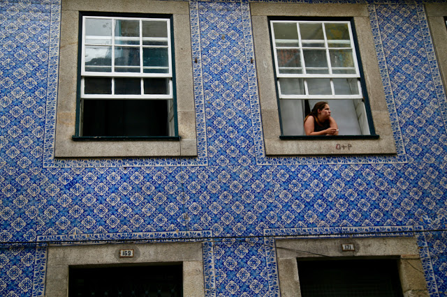 tiled building, Porto, Portugal
