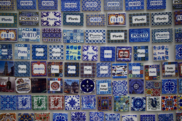 Porto azulejo magnets, Porto, Portugal