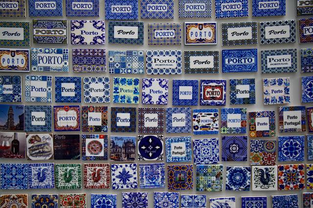Porto azulejo magnets, Porto, Portugal