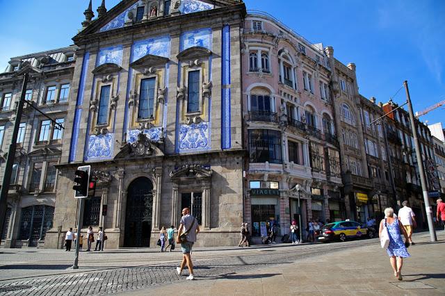 azulejo buildings, Porto, Portugal