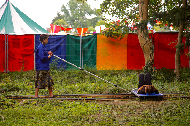 An installation'Track' by Graeme Miller, womad