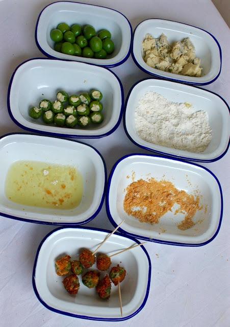 Deep Fried Blue Cheese Stuffed Green Olives Recipe