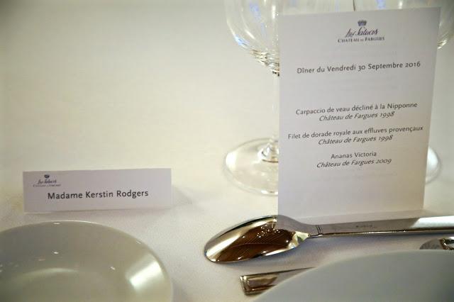 dinner at chateau de fargues