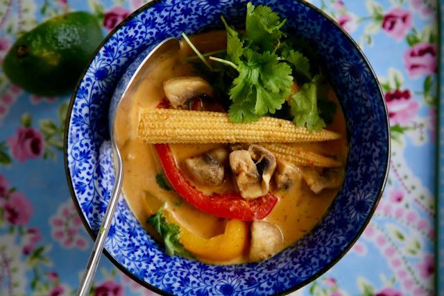 Thai red curry, vegan