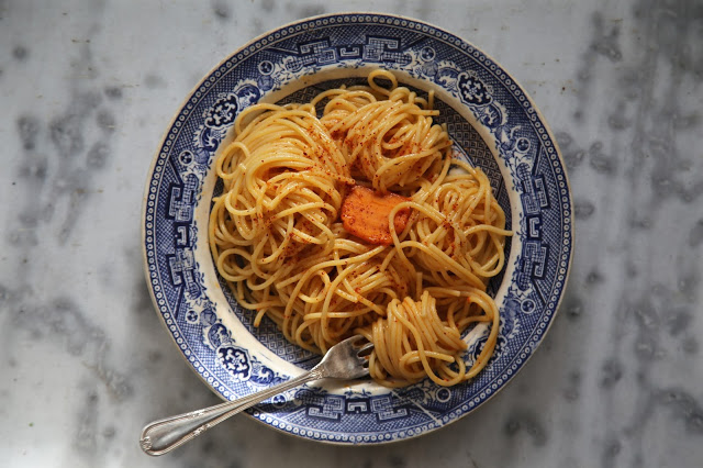 world pasta day spaghetti with espelette butter