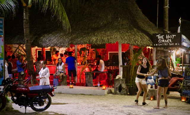 The Hot Corner bar in Holbox.