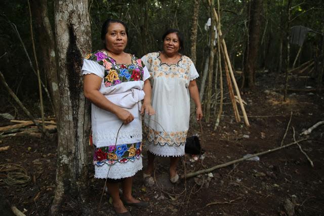 aldea maya, coba, Yucatan, Mexico