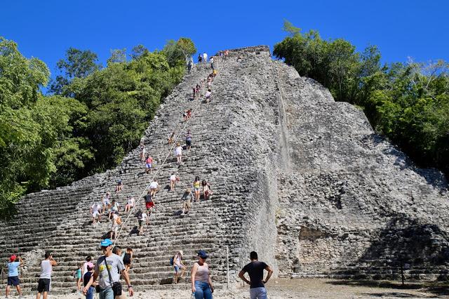 pyramid, coba, Yucatan, Mexico