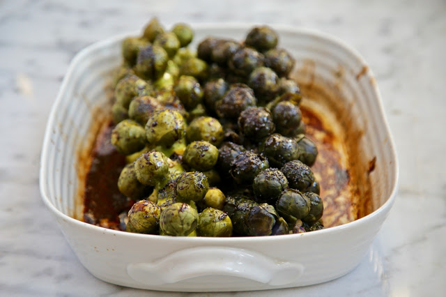 Roasted Brussels Sprouts on a stem recipe