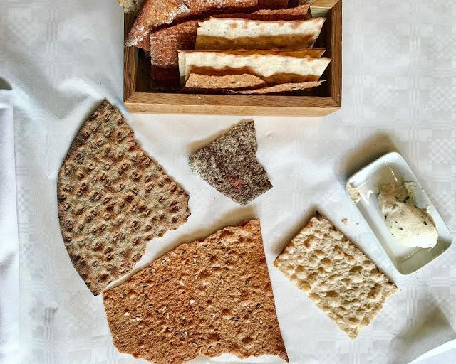 home made crisp breads knackebrod at Sturehof restaurant Stockholm