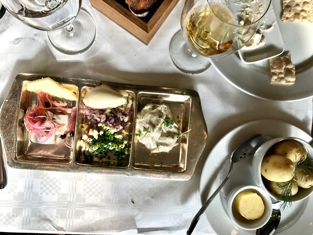 herring plate, sturehof restaurant, stockholm