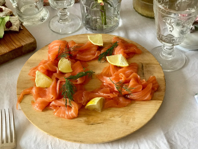 smoked salmon on the smorgasbord: 3rd annual Swedish midsummer supper club with msmarmitelover and Linn Soderstrom in London